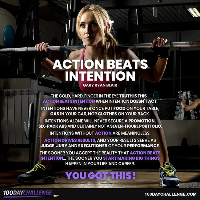 Action Beats Intention - 100 Day Challenge