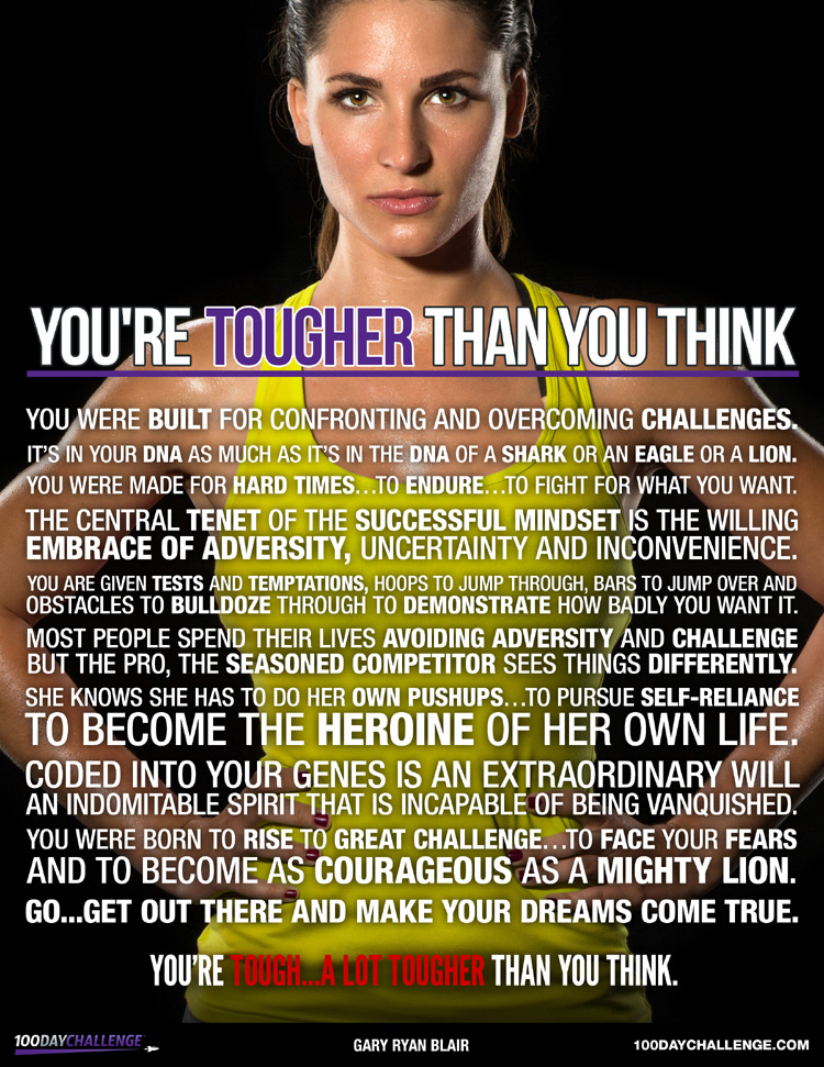 YOU'RE TOUGHER THAN YOU THINK